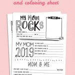 Mother's Day Questionnaire Printable | Handprint Crafts | Mothers   Free Printable Mother's Day Questionnaire