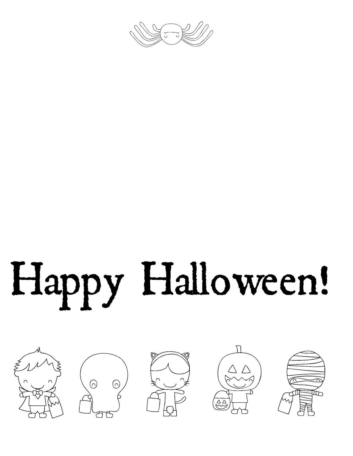 Musings Of An Average Mom: Free Halloween Cards To Color - Printable Halloween Cards To Color For Free