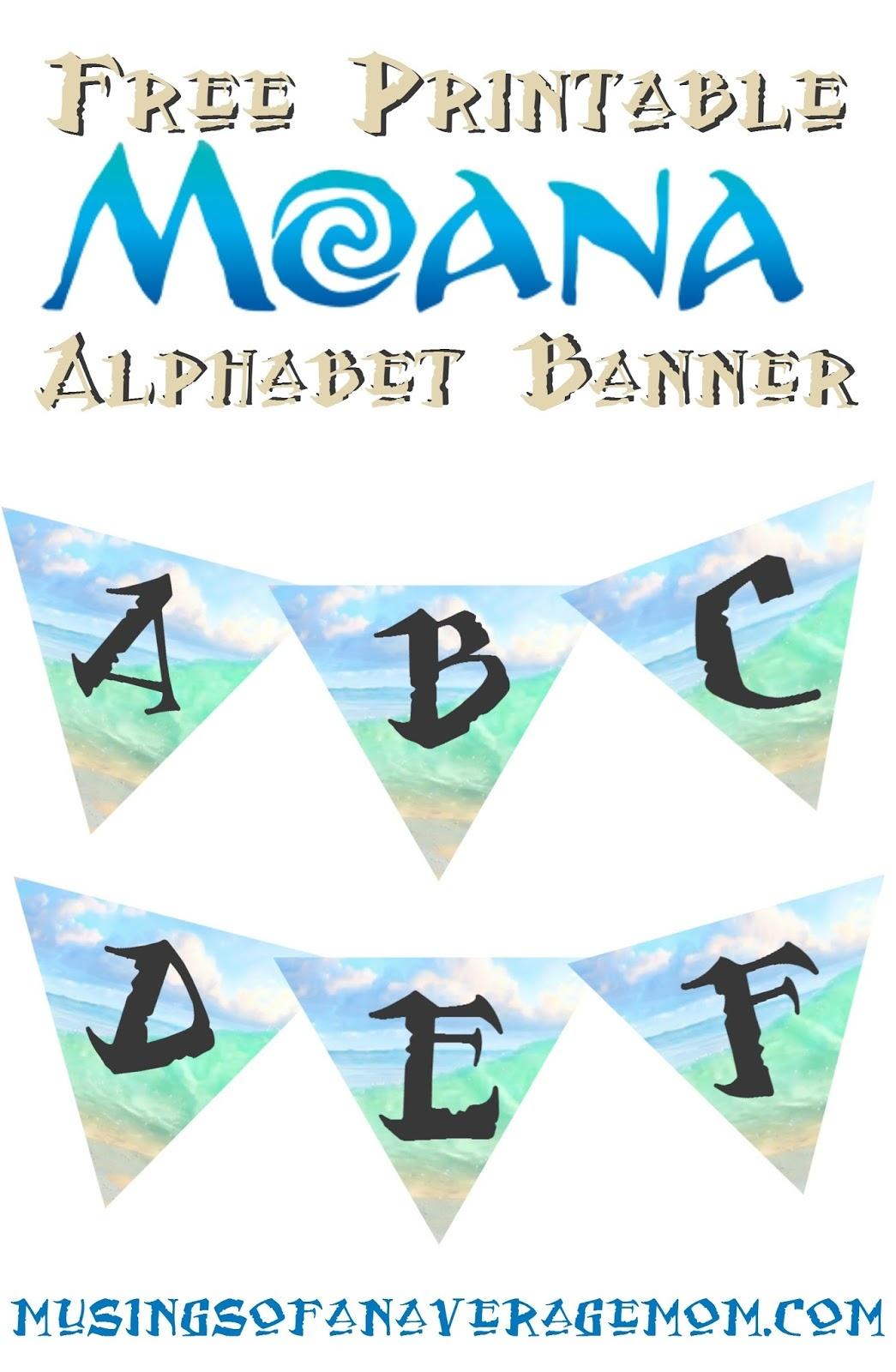 Musings Of An Average Mom: Moana Birthday Banner - Free Printable Moana Banner