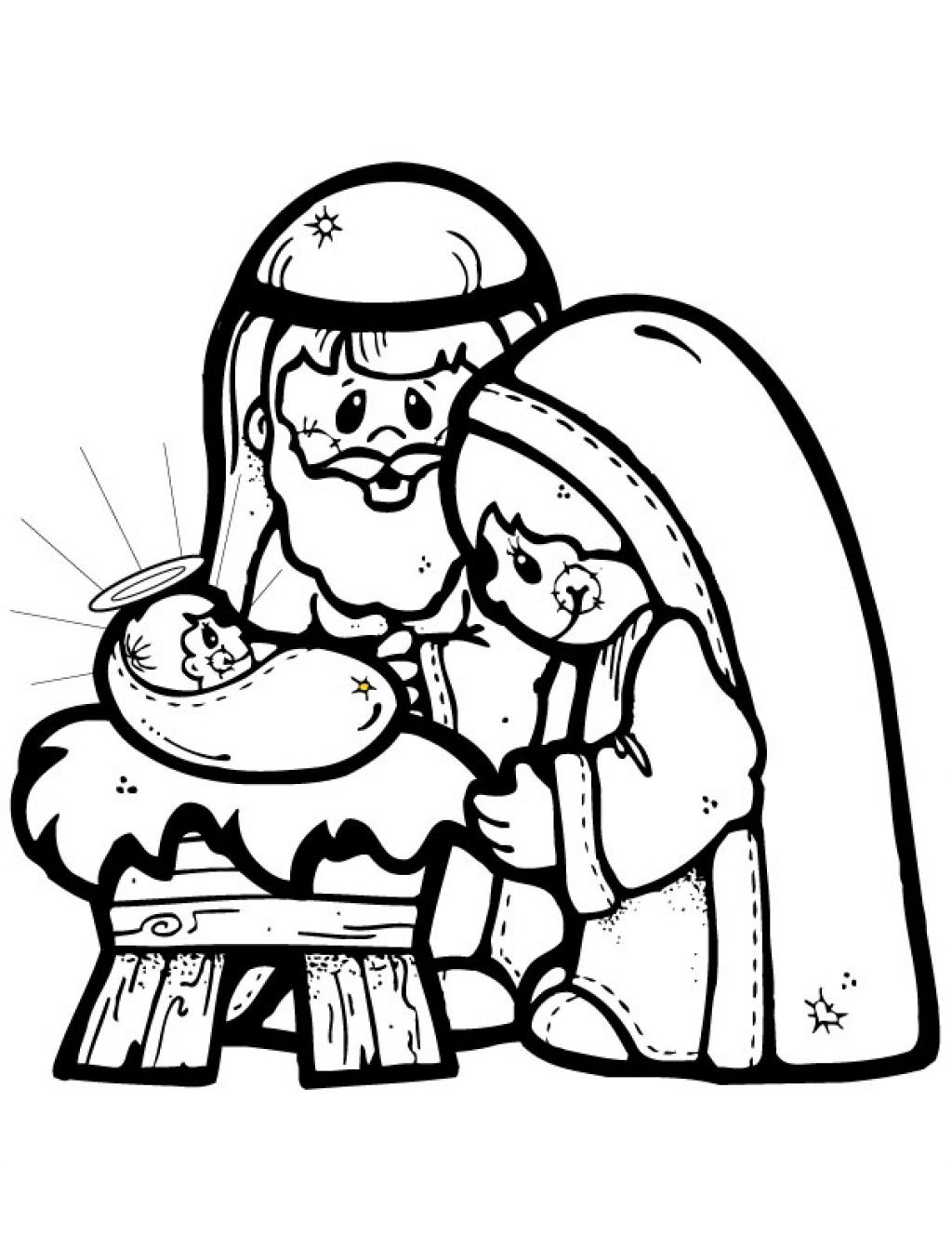 Nativity Coloring Pages | Free Download Best Nativity Coloring Pages - Free Printable Christmas Story Coloring Pages