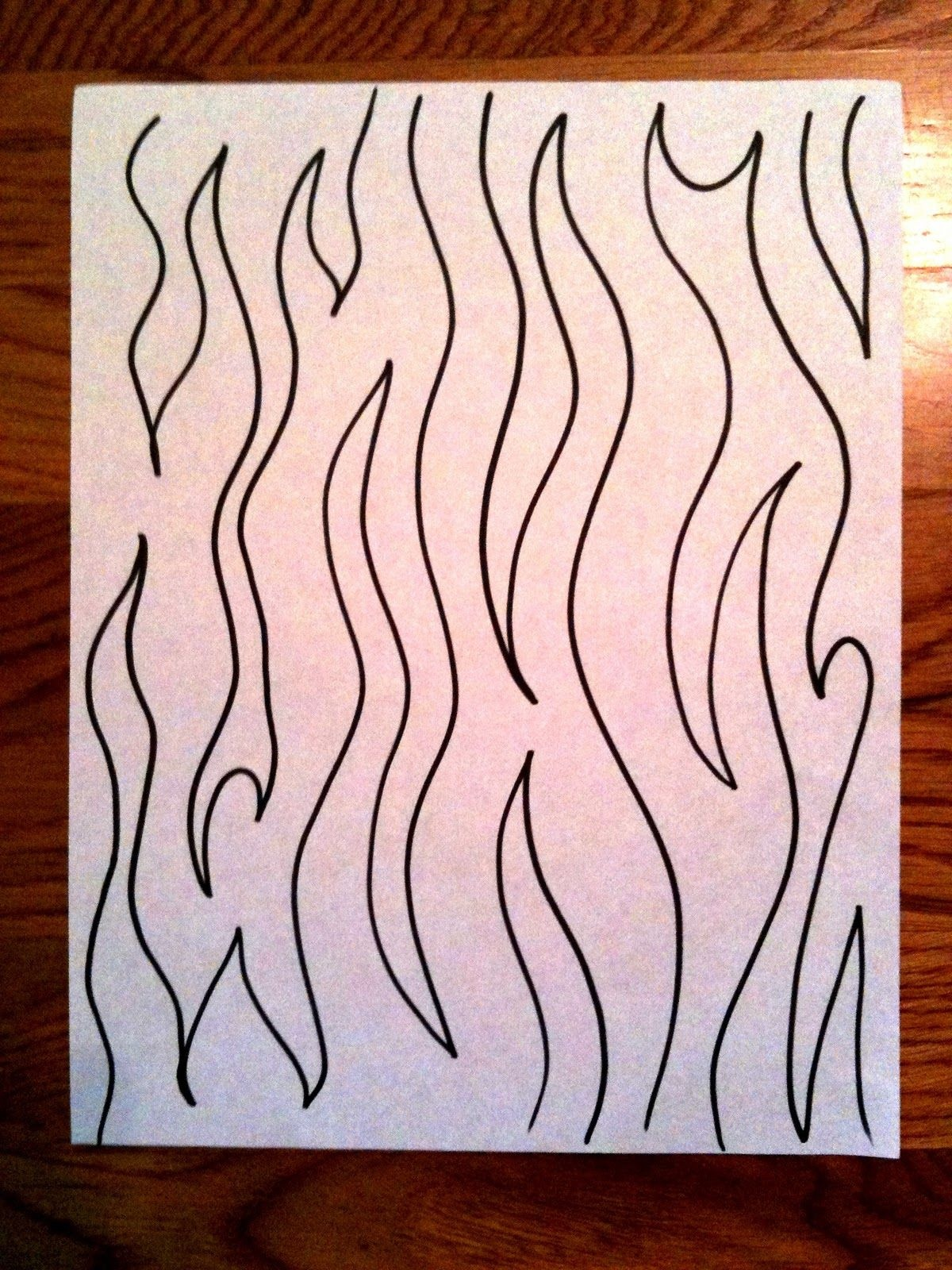 """Neat Quilting Pattern """"meandering Flames""""  (Would've Looked Good - Free Printable Pantograph Patterns"""