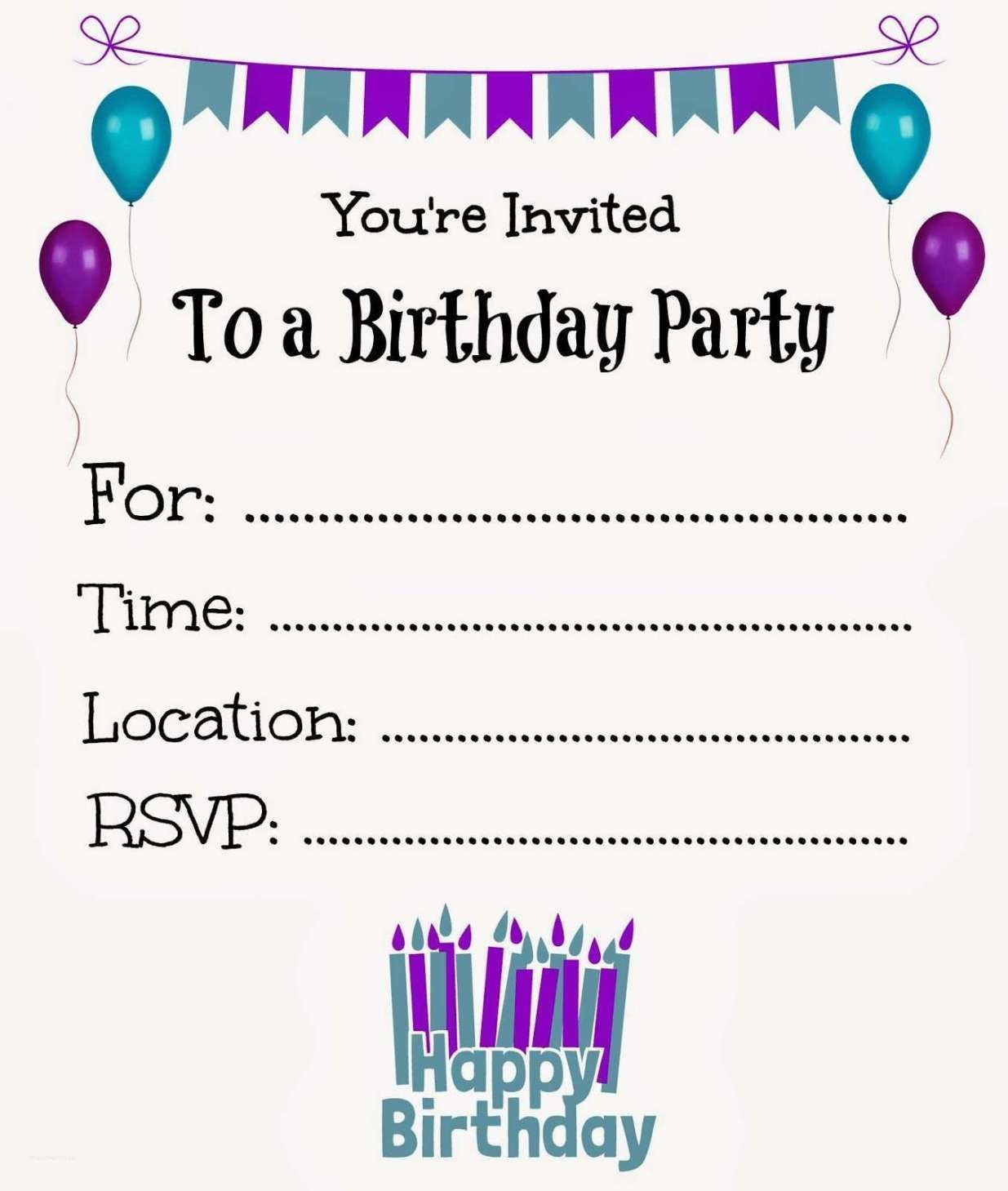 New Free Online Printable Birthday Party Invitations | Online - Make Printable Party Invitations Online Free