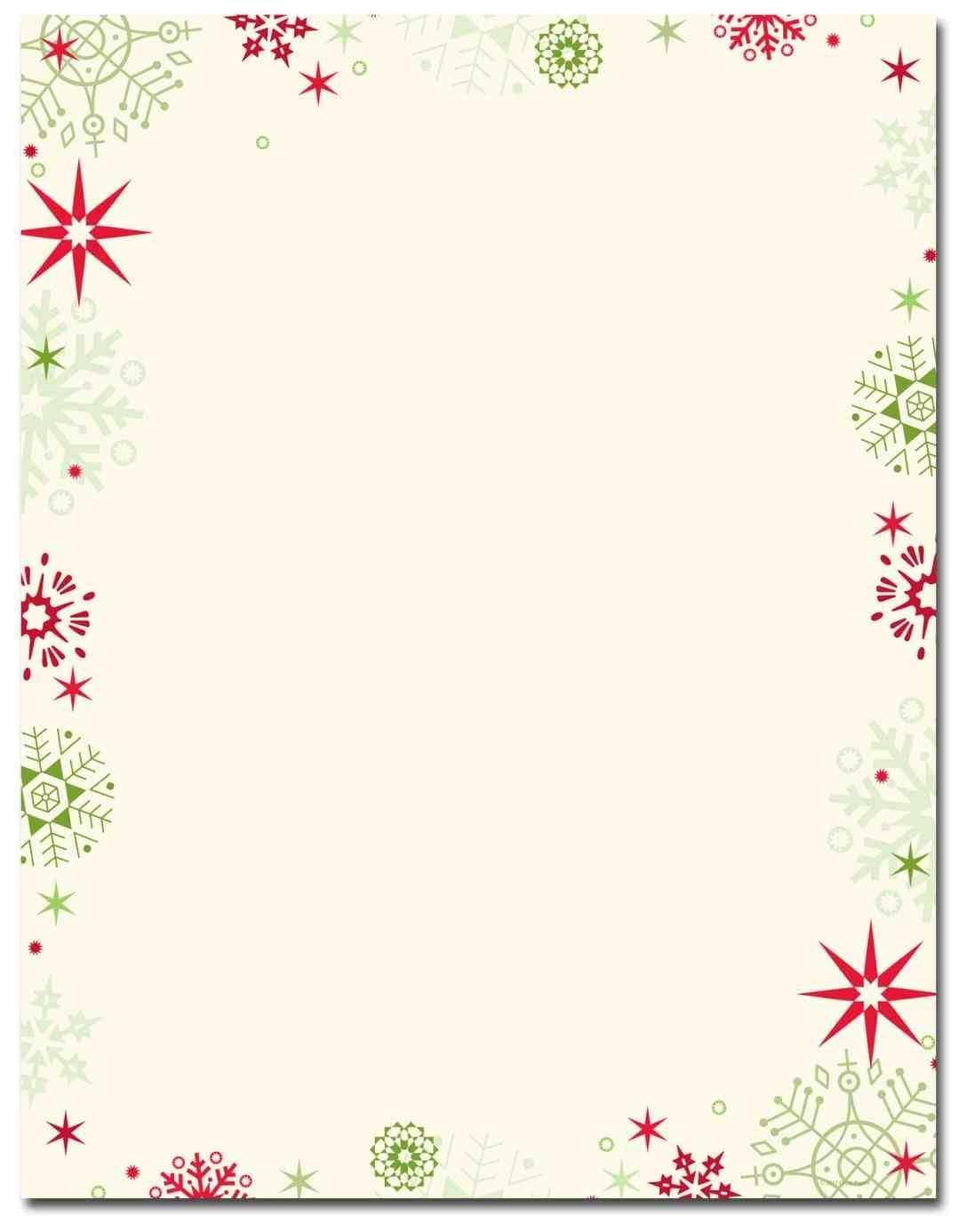 New Free Printable Christmas Stationary Borders At Temasistemi - Free Printable Christmas Letterhead