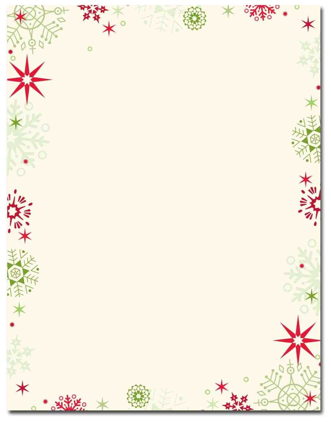 New Free Printable Christmas Stationary Borders At Temasistemi - Free Printable Letterhead Borders
