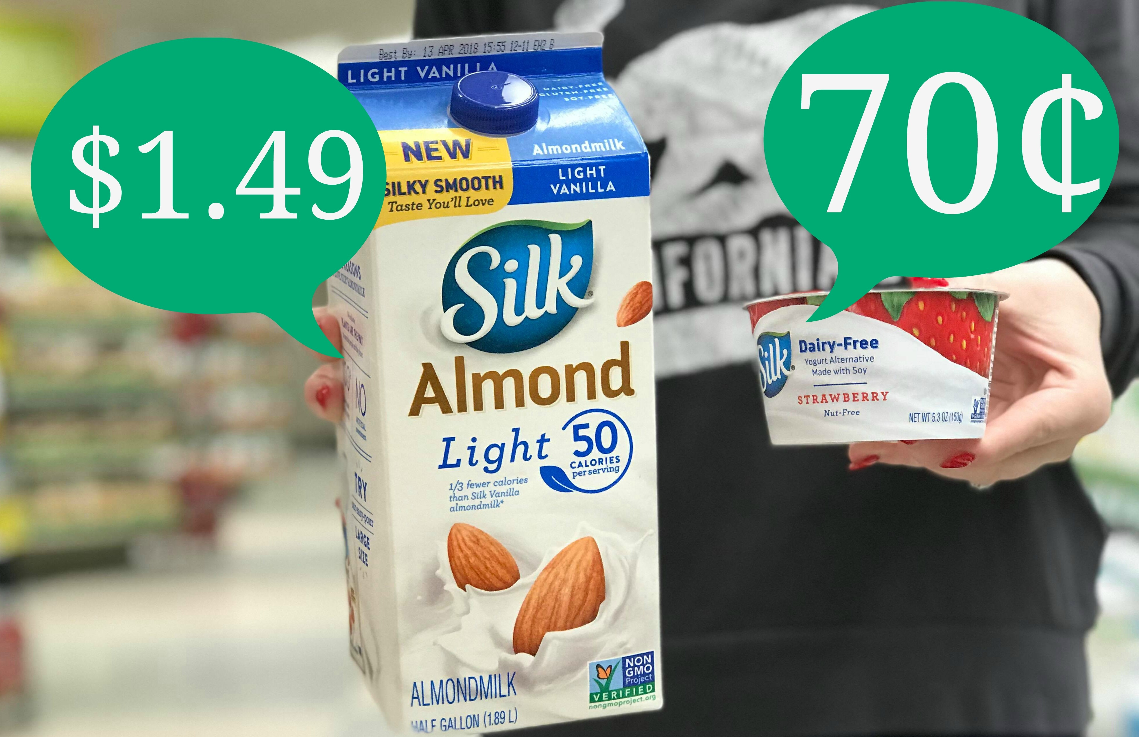 New Silk Coupons   Almondmilk As Low As $1.49 And Dairy-Free Yogurt - Free Printable Silk Soy Milk Coupons
