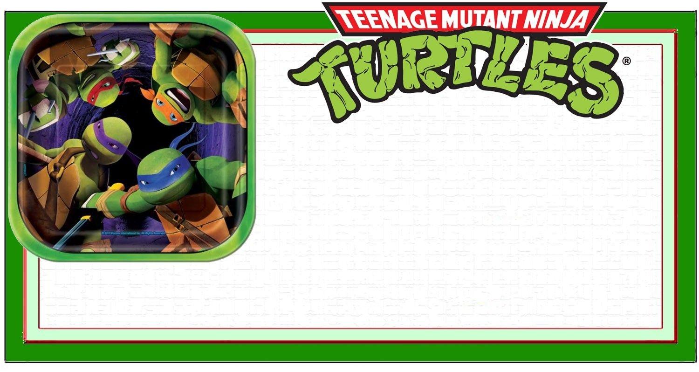 Ninja Turtle Invitation Template | Coolest Invitation Templates - Free Printable Teenage Mutant Ninja Turtle Cupcake Toppers