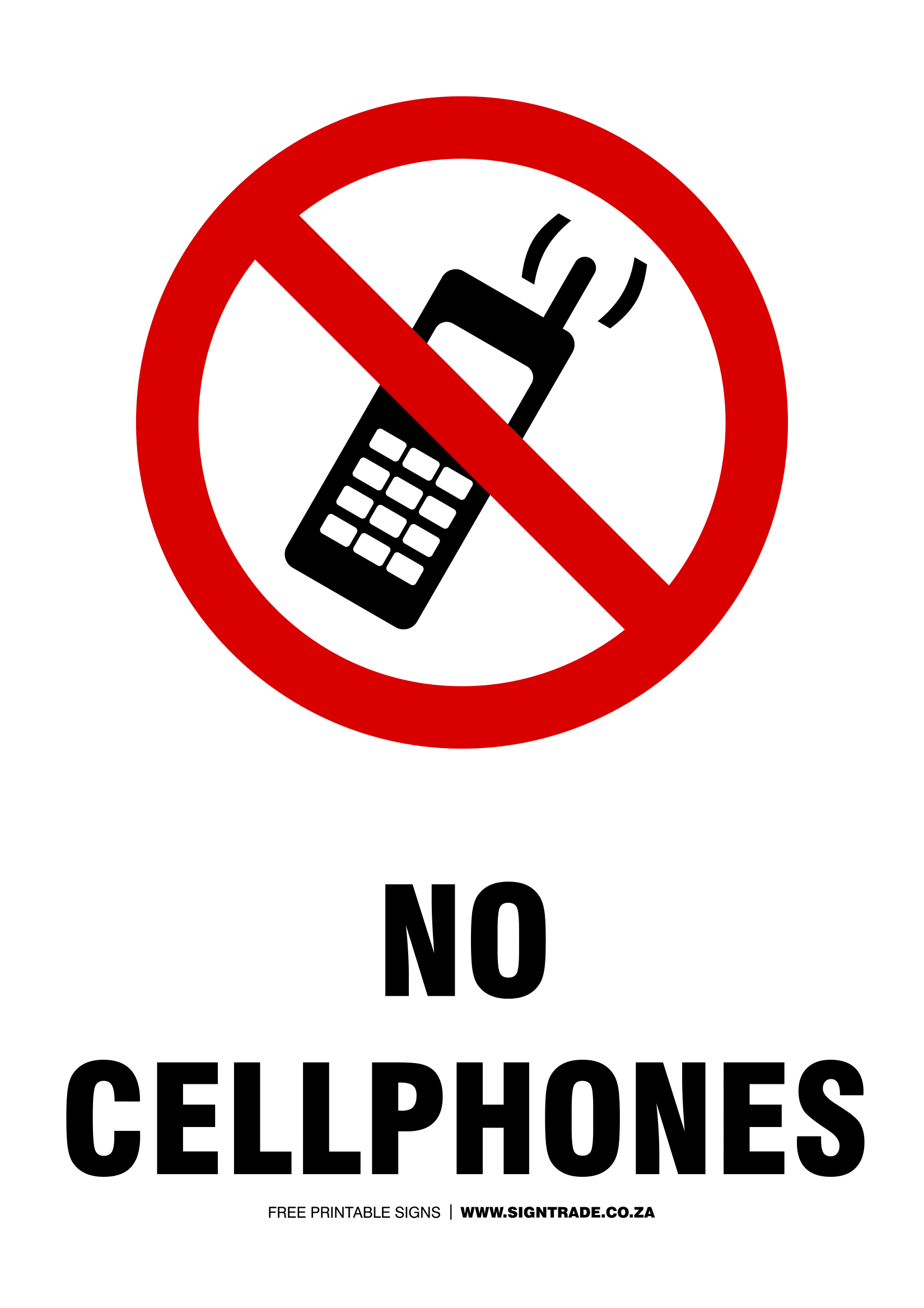 No Mobile Phone Signs | Poster Template - Free Printable No Entry Sign