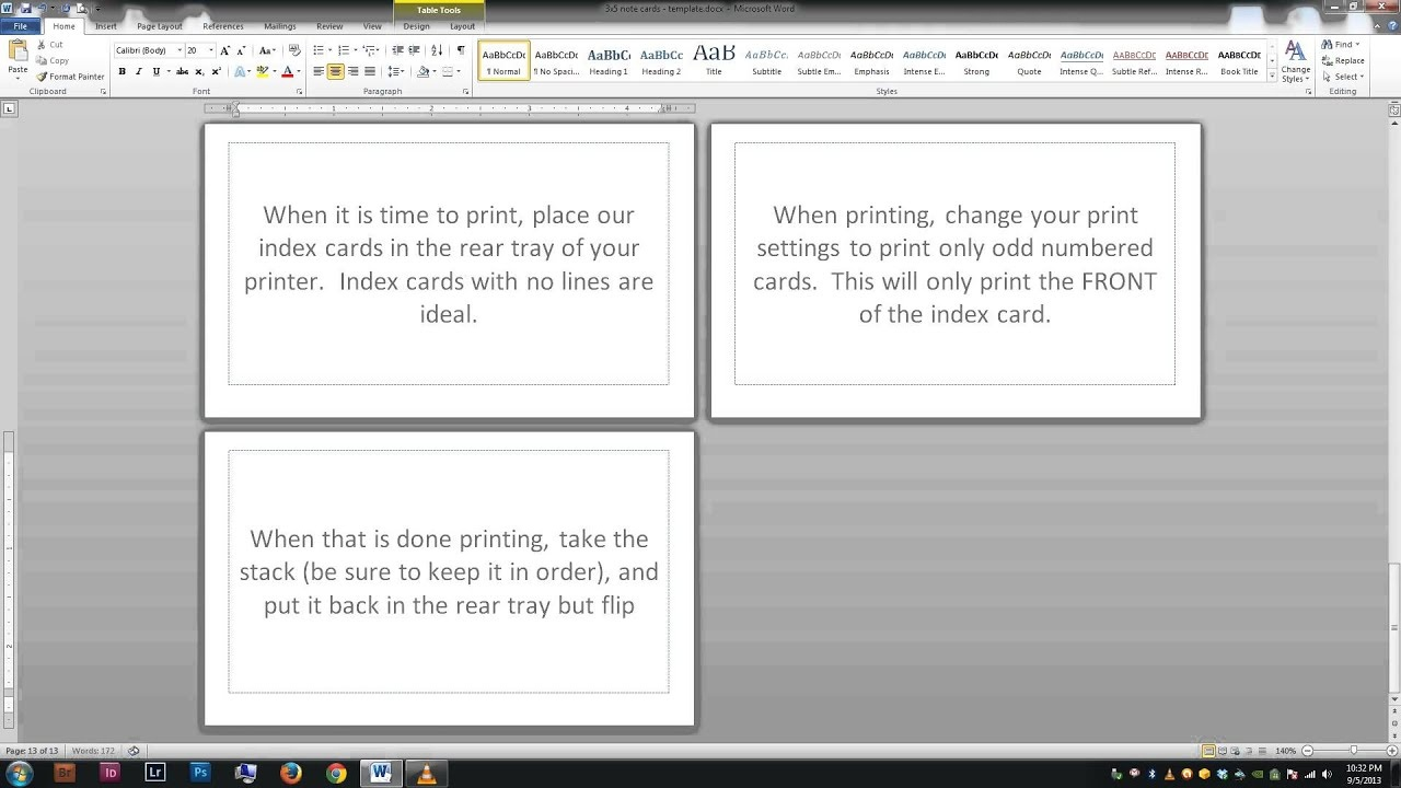 Note/index Cards - Word Template - Free Printable Blank Index Cards