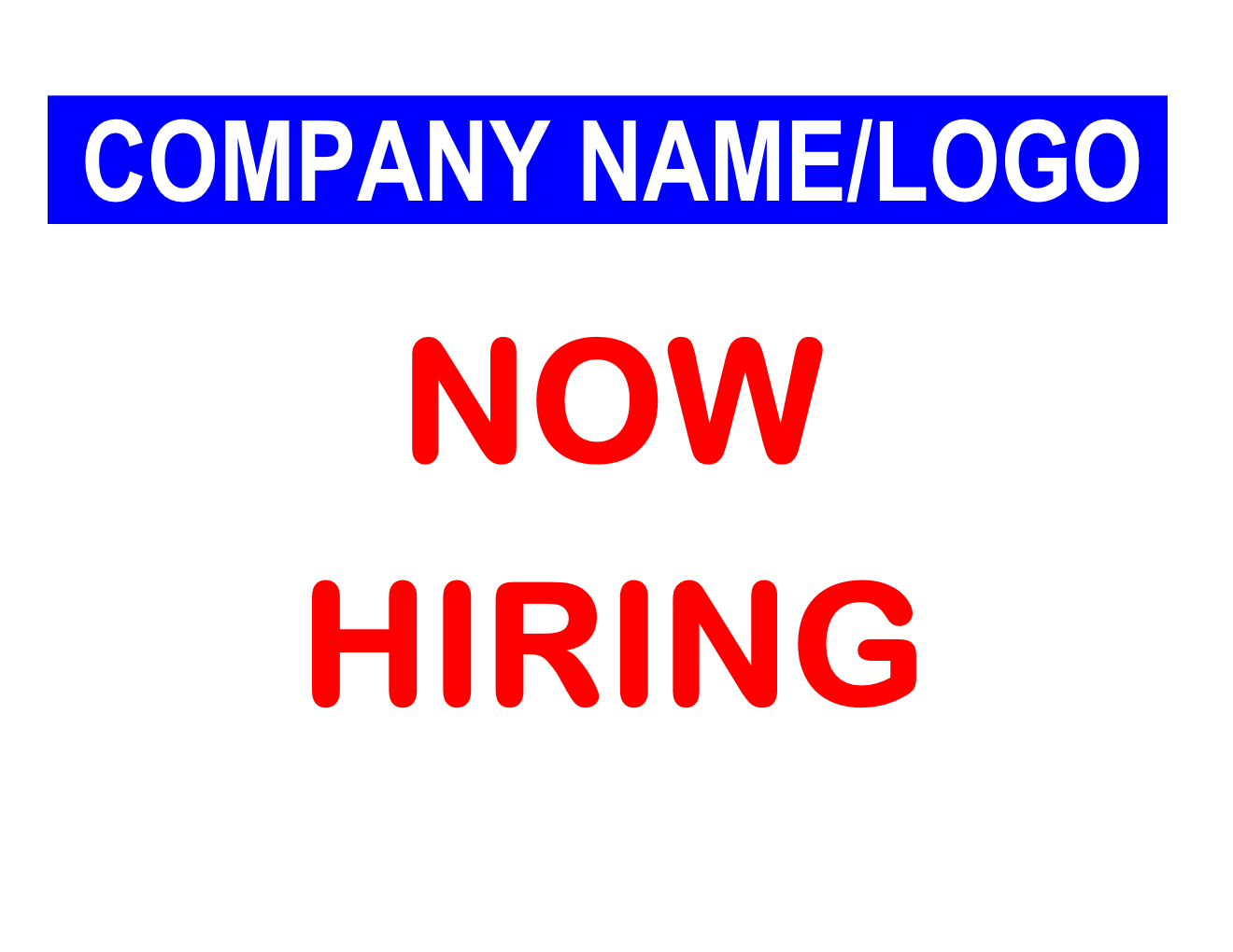 Now Hiring Sign - Free Printable Sign Templates