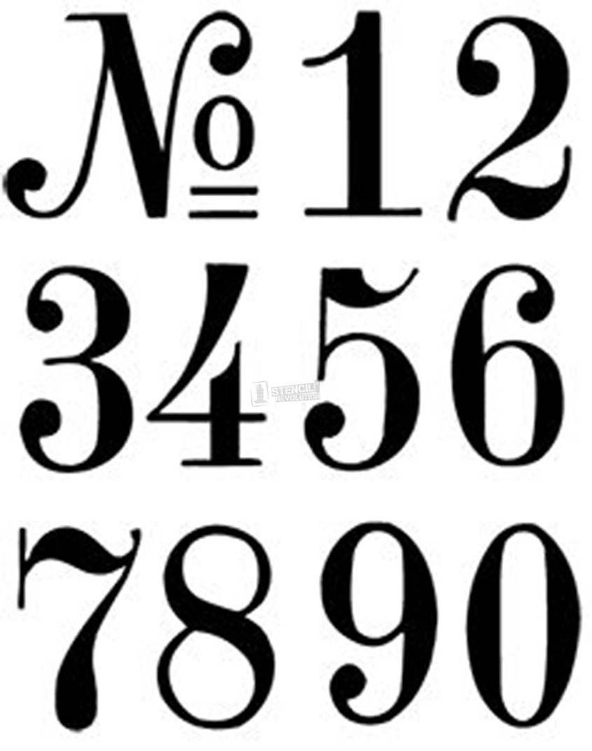 Number Stencils | Crafts | Letter Stencils, Number Stencils, Stencils - Free Printable Fancy Number Stencils