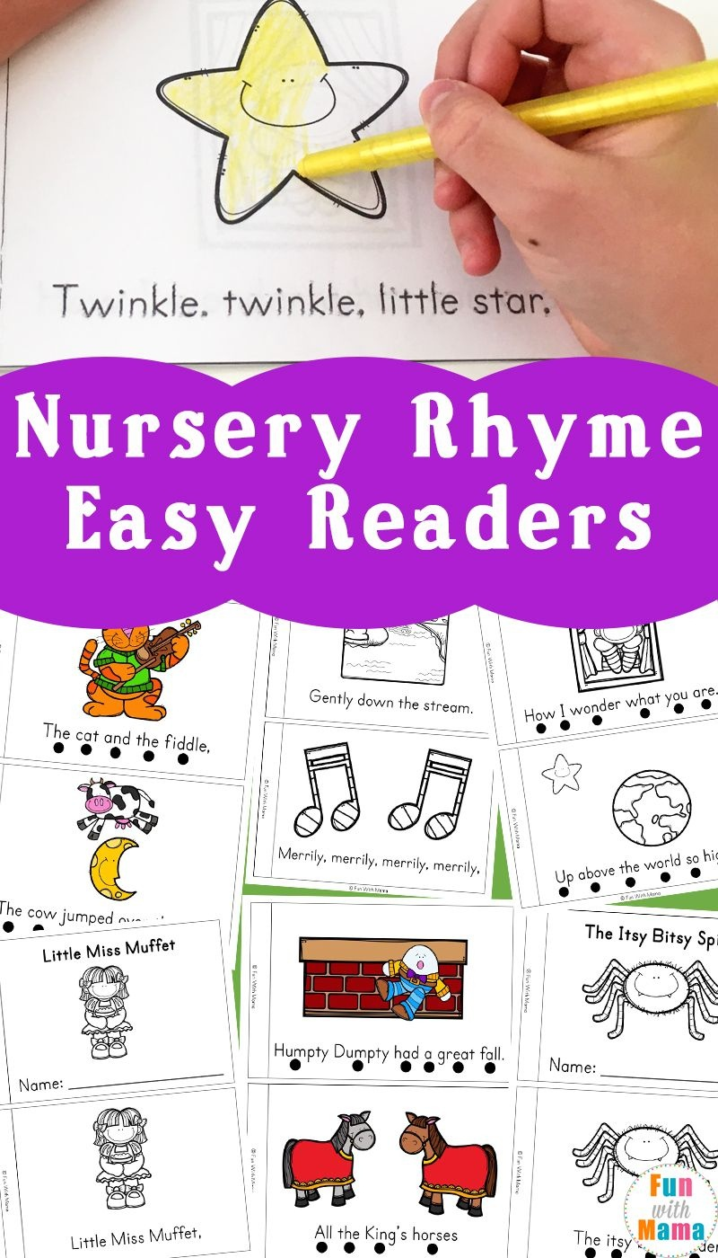 Nursery Rhyme Easy Reader Books | Little Books | Nursery Rhymes - Free Printable Nursery Rhymes