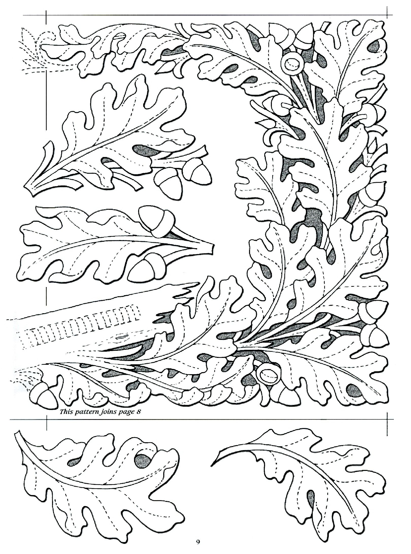 Oak Leaf Design …   Diy And Crafts   Oak L… - Free Printable Oak Leaf Patterns