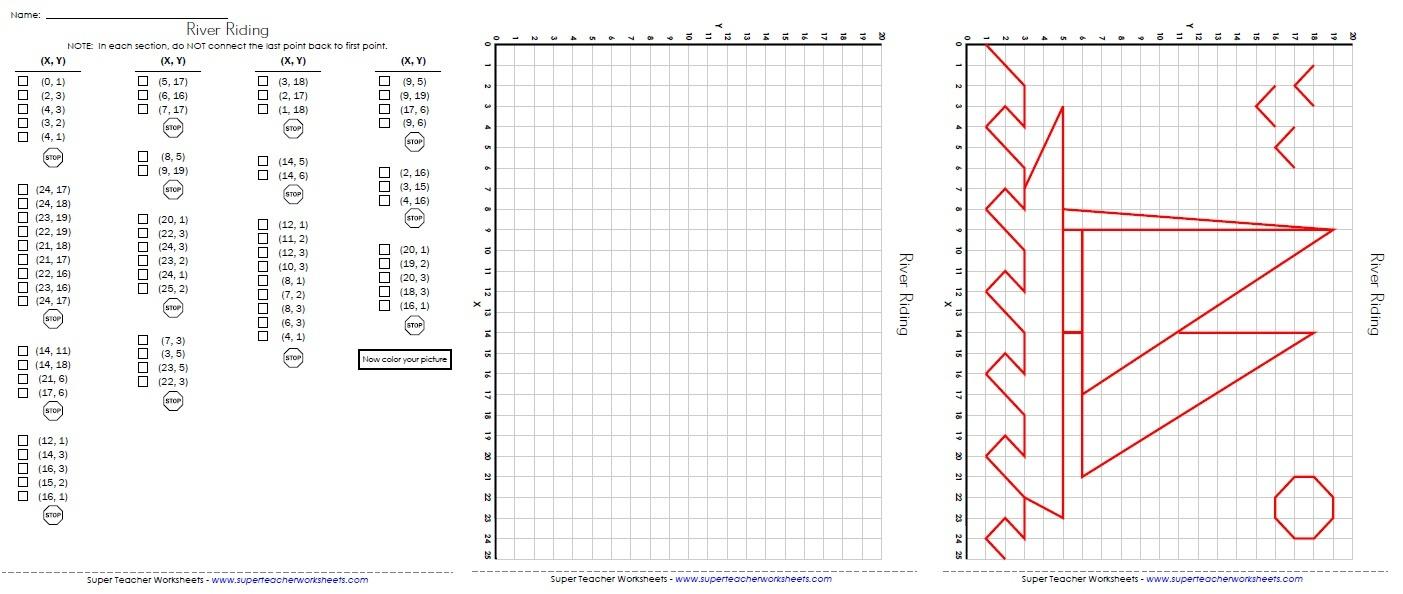 Ordered Pairs And Coordinate Plane Worksheets - Free Printable Coordinate Grid Worksheets
