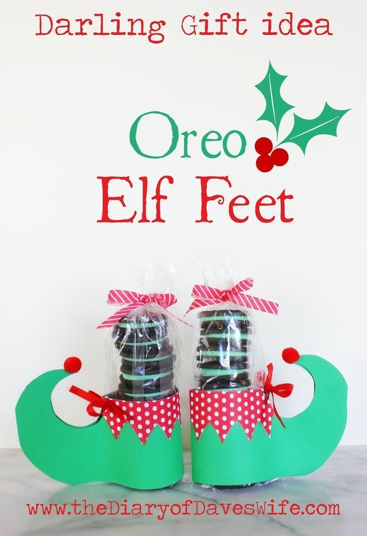 Oreo Elf Feet With Free Printable Pattern | Gifts For Her - Free Printable Elf Pattern