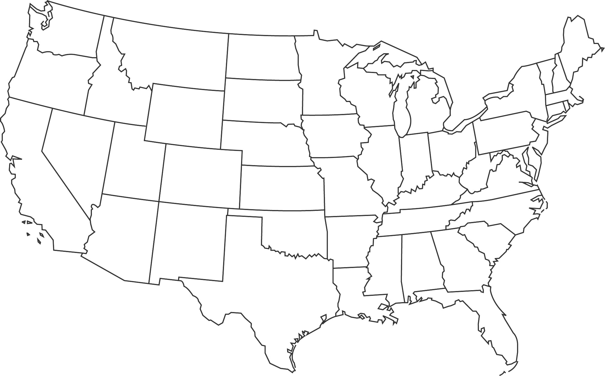 Outline Map Of Us And Travel Information | Download Free Outline Map - Free Printable Outline Map Of United States