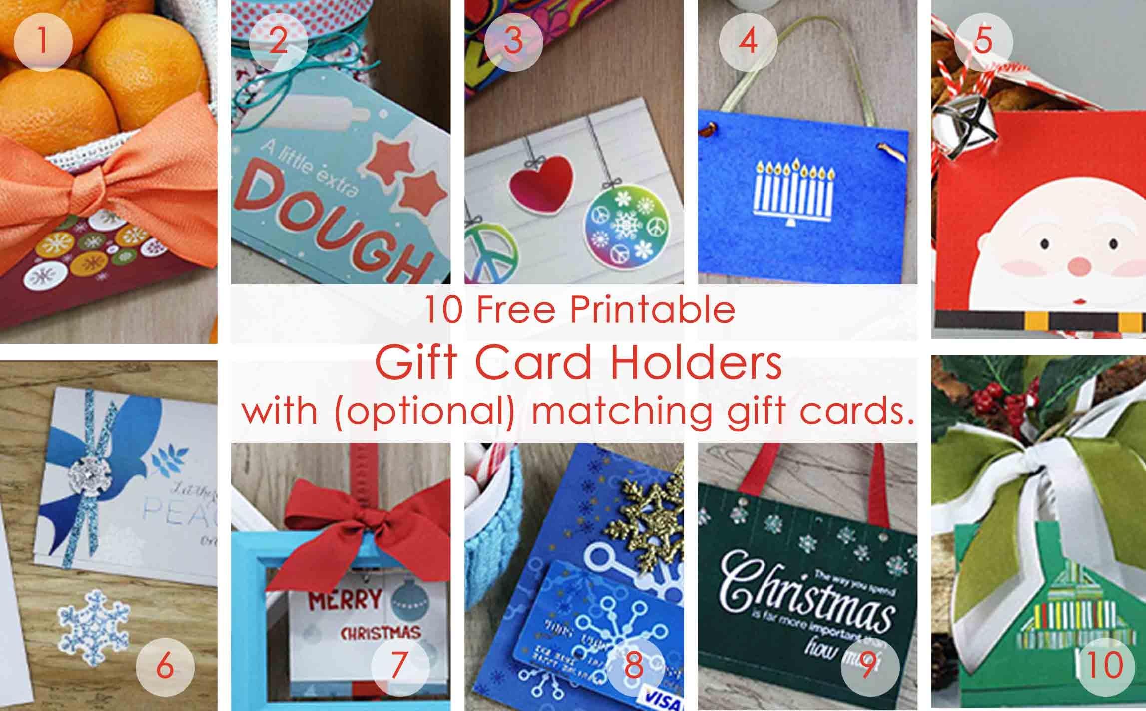 Over 50 Printable Gift Card Holders For The Holidays   Gcg - Free Printable Christmas Gift Cards