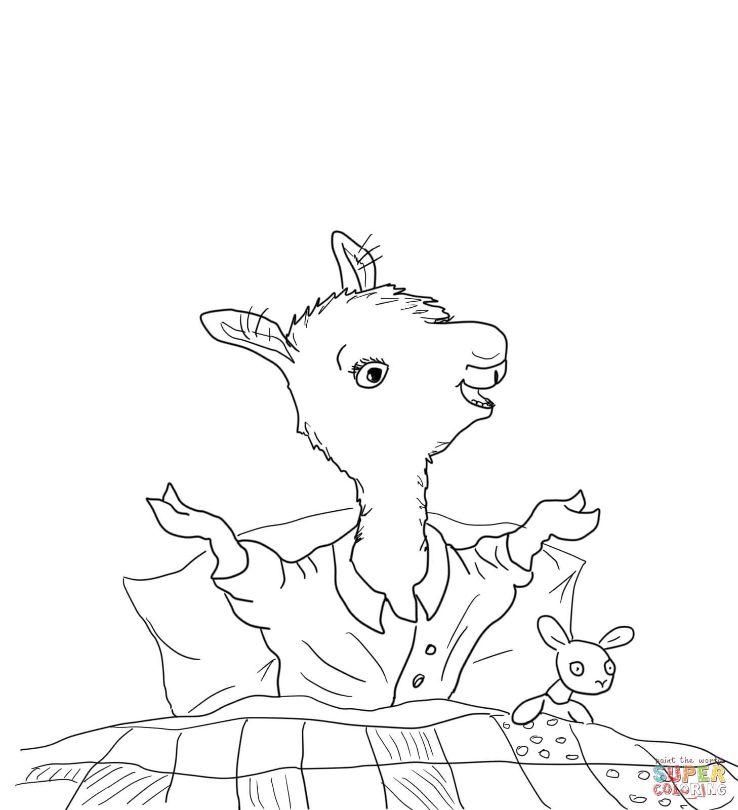Pajamas Coloring Page - Coloring Home - Free Printable Pajama Coloring Pages