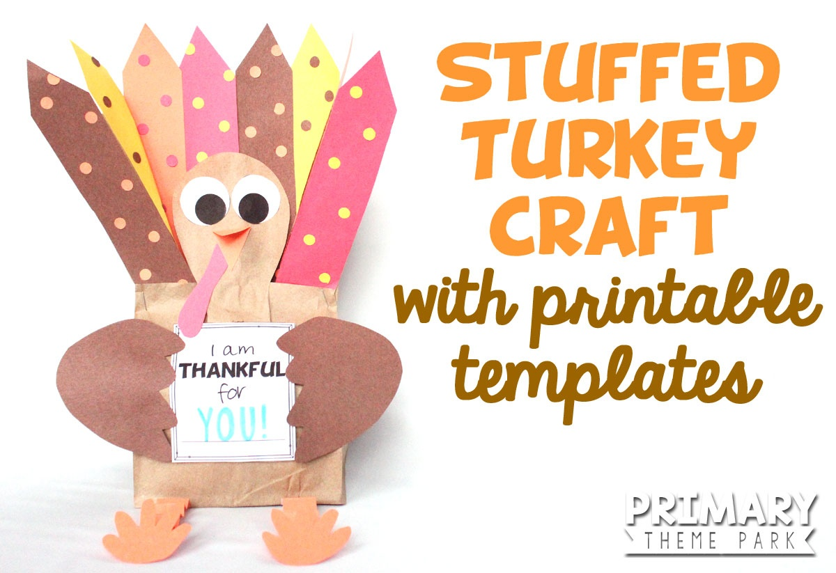 Paper Bag Turkey Craft - Primary Theme Park - Free Turkey Cut Out Printable