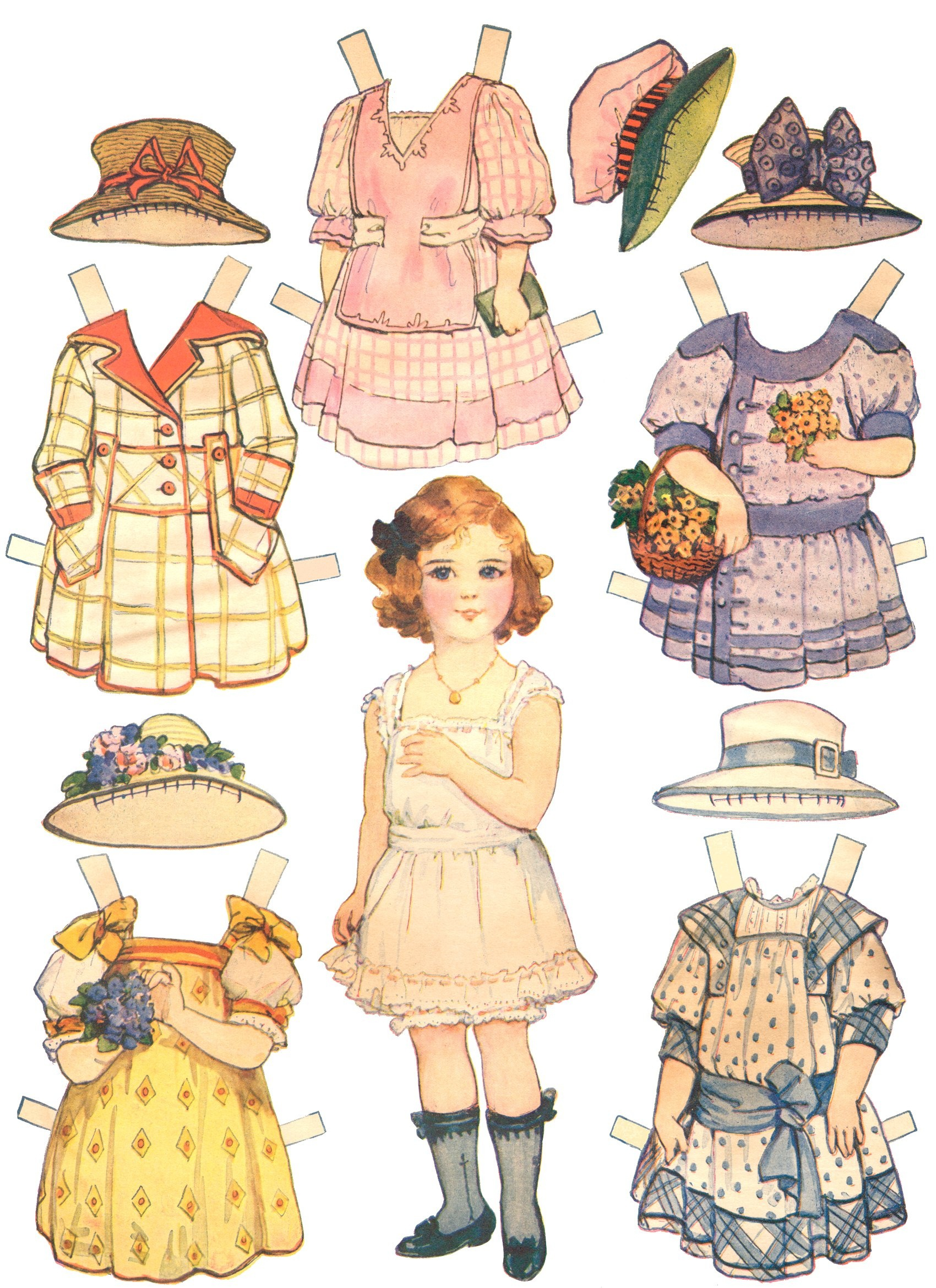 Paper Dolls And Paper Doll Dresses - Printable From Kid Fun - - Free Printable Paper Dolls