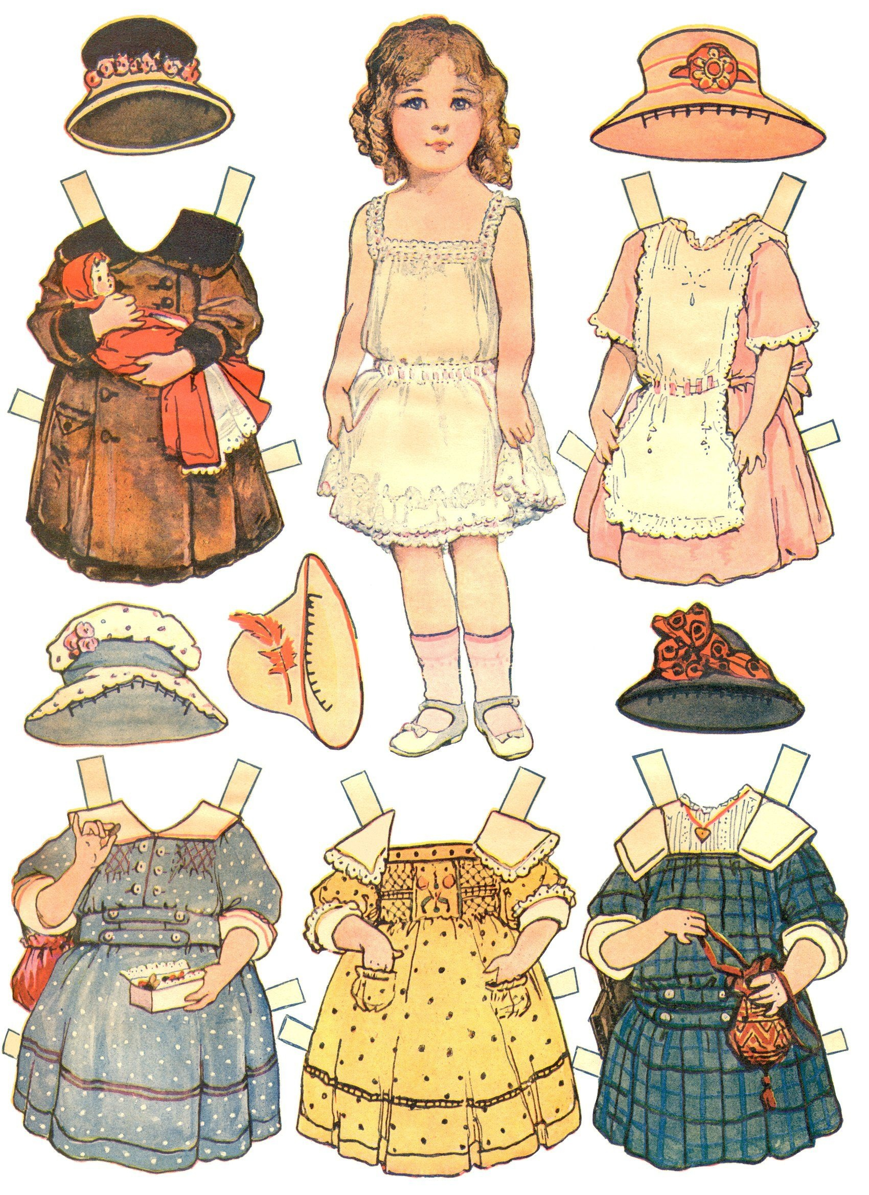 Paper Dolls And Paper Doll Dresses – Printable From Kid Fun | Thema - Free Printable Paper Dolls