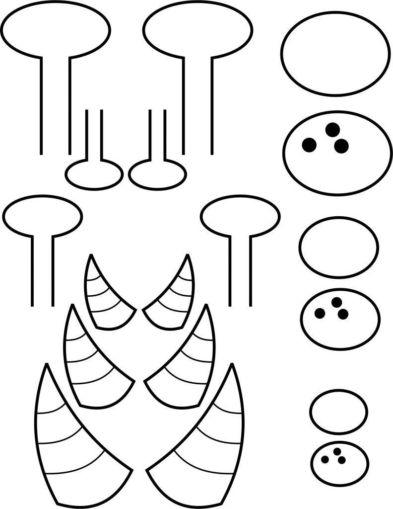 Paper Plate Monster - Free Printable Monster Templates