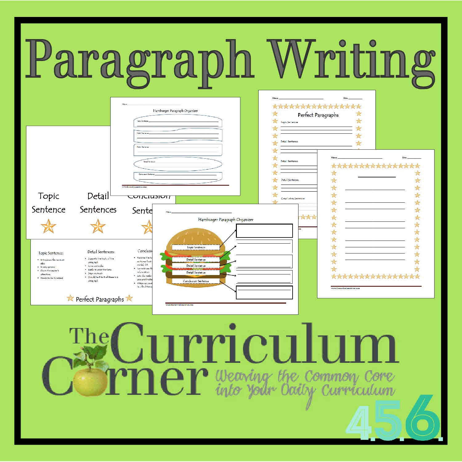 Paragraph Writing - The Curriculum Corner 4-5-6 - 6Th Grade Writing Worksheets Printable Free