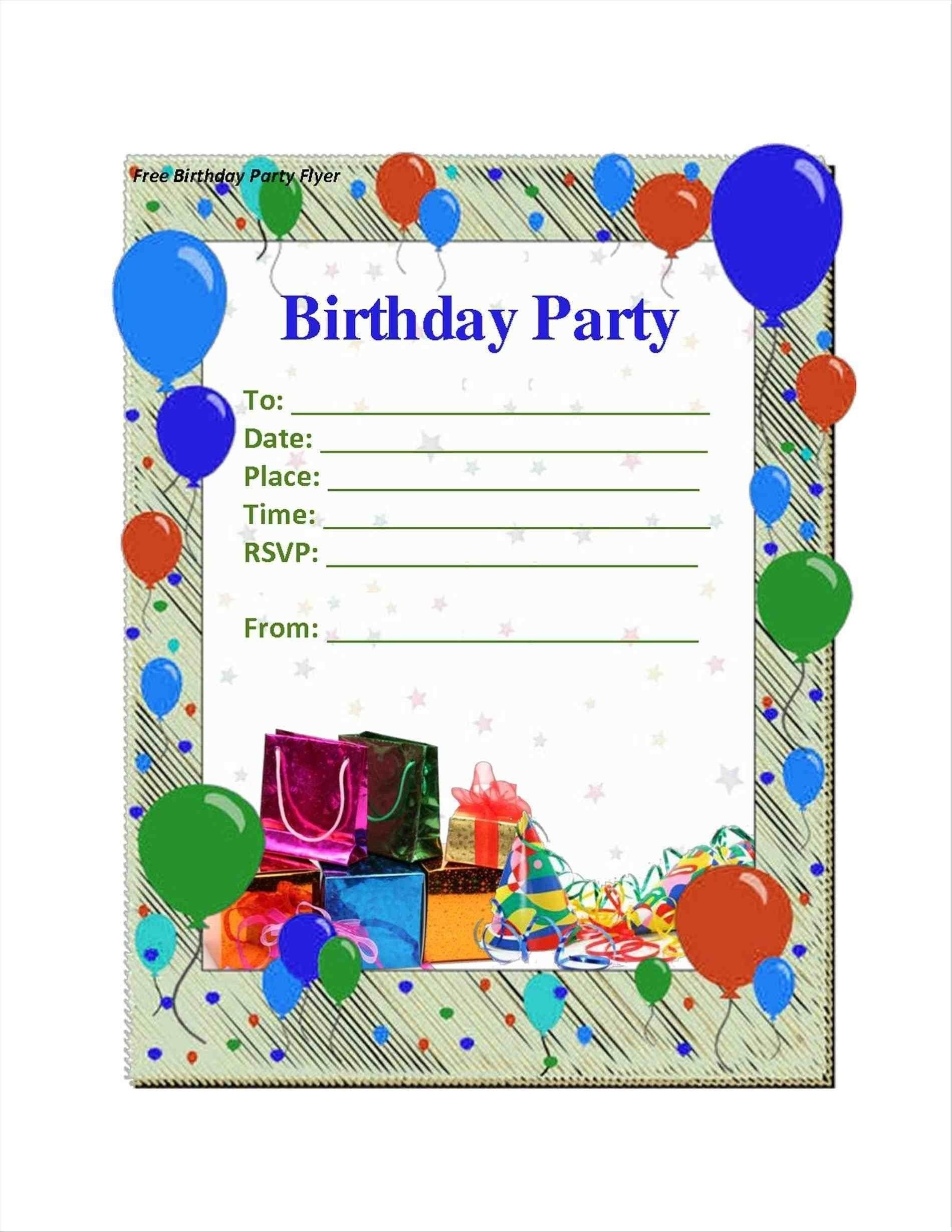 Party Invitation Ideas | Home Design In 2019 | Free Birthday - Free Printable Birthday Party Flyers