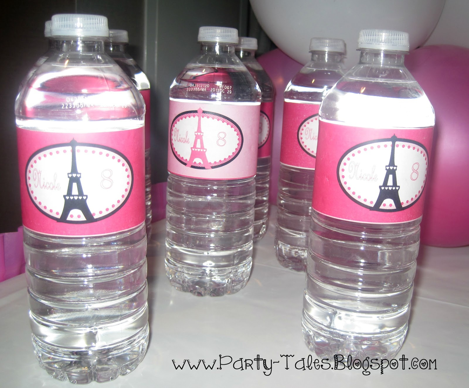 Party-Tales: July 2012 - Free Printable Paris Water Bottle Labels