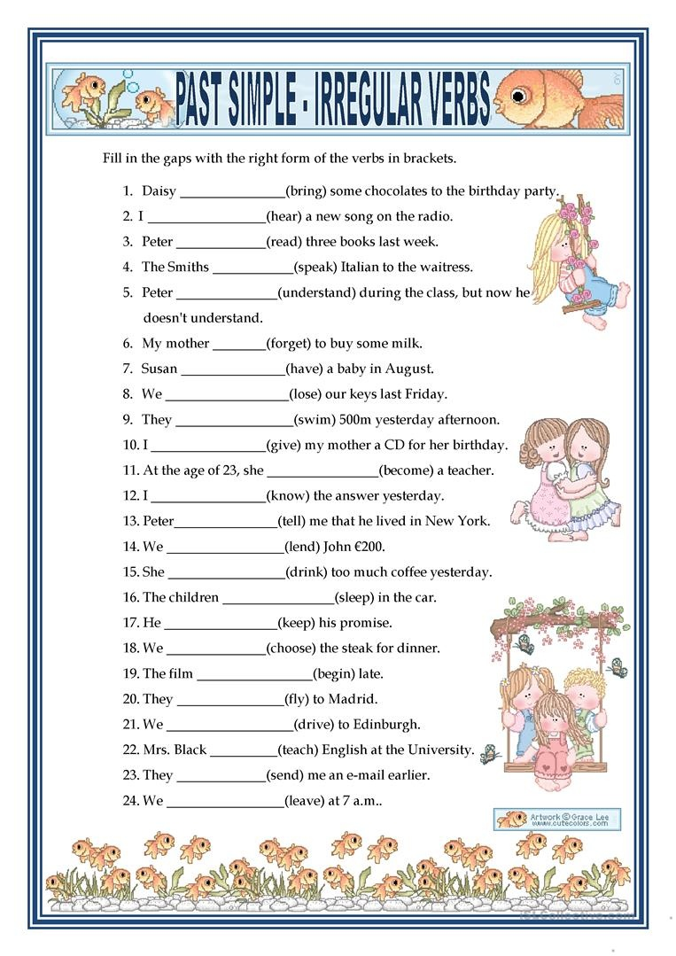 Past Simple - Irregular Verbs Worksheet - Free Esl Printable - Free Printable Verb Worksheets