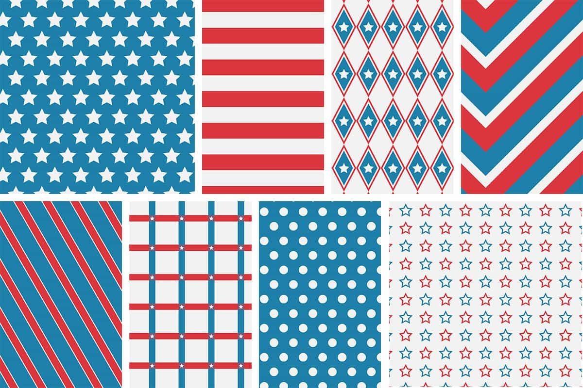 Patriotic 4Th Of July Digital Papers - Love Paper Crafts - Free Printable Patriotic Scrapbook Paper