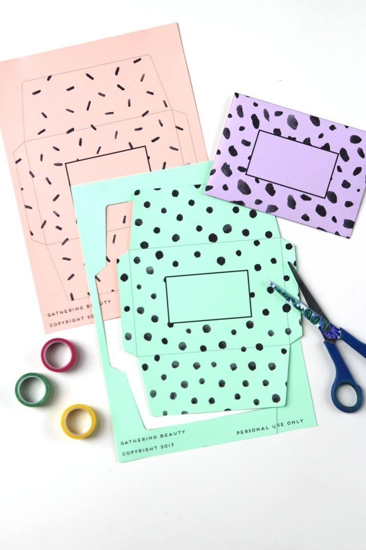 Patterned Envelopes - Free Printable.   Printables   The Best - Free Printable Envelopes
