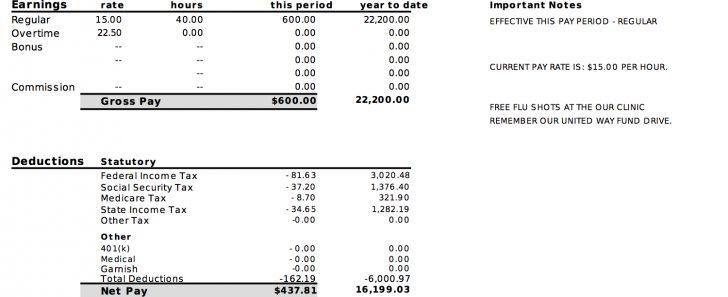 Free Printable Pay Stubs