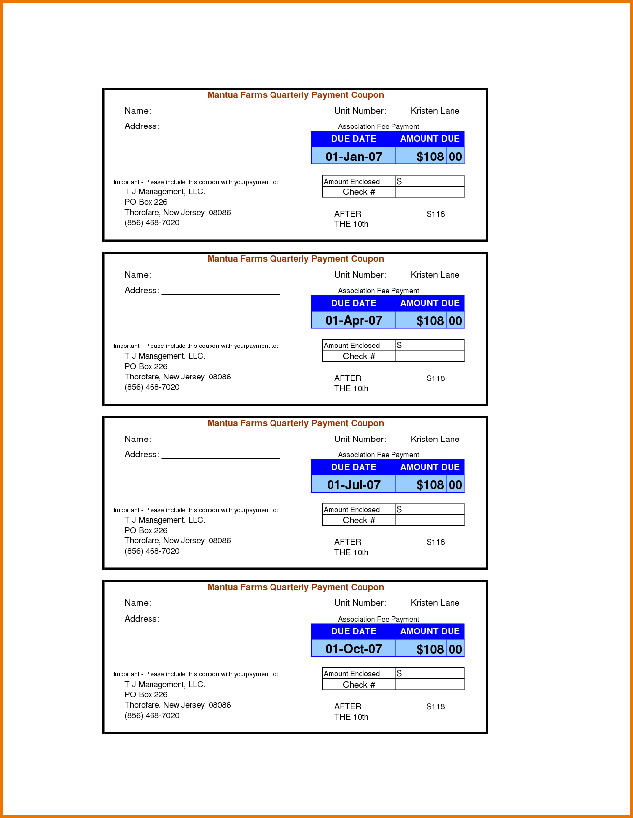 Payment Coupon Book Template - Tutlin.psstech.co - Free Sample Coupons Printable