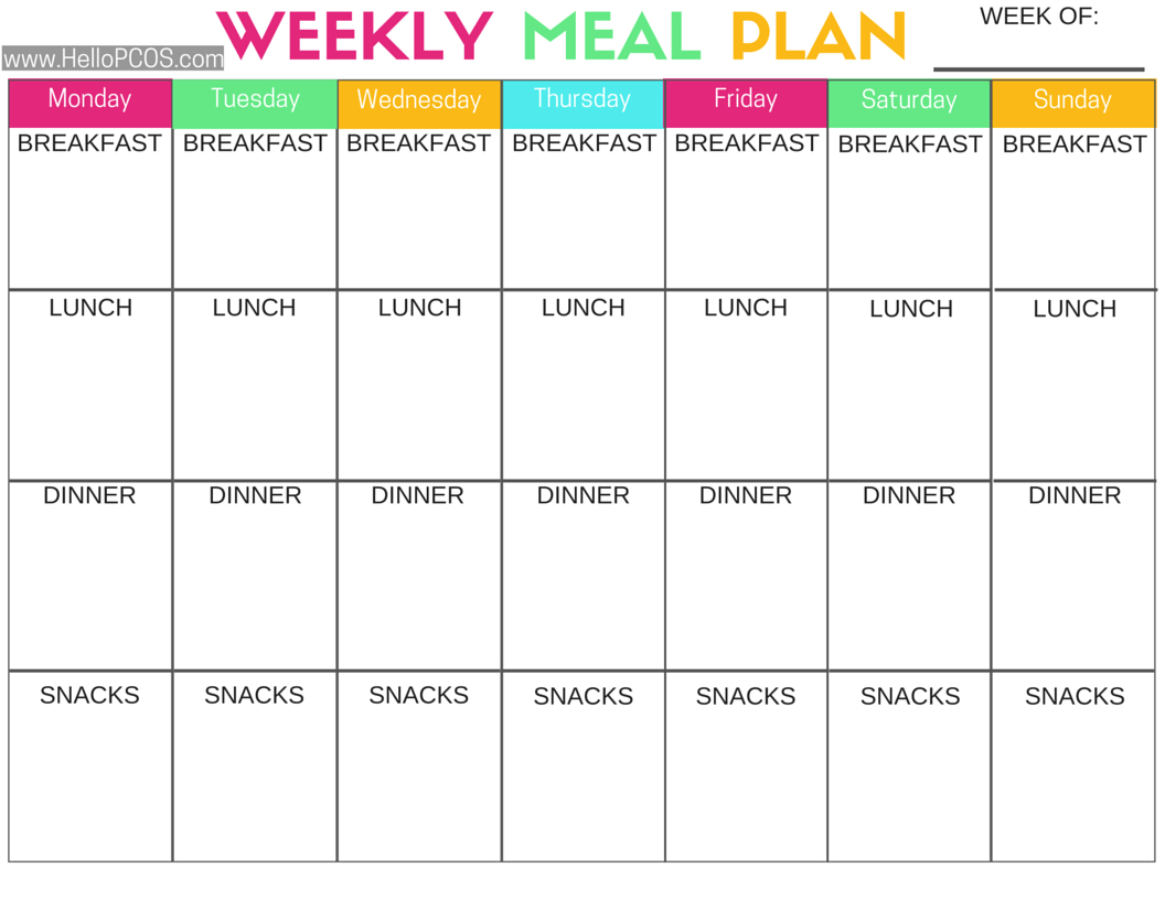 Pcos Diet And Nutrition   Recipies I'll Cook Eventually   Pcos Diet - Free Printable Meal Plans For Weight Loss