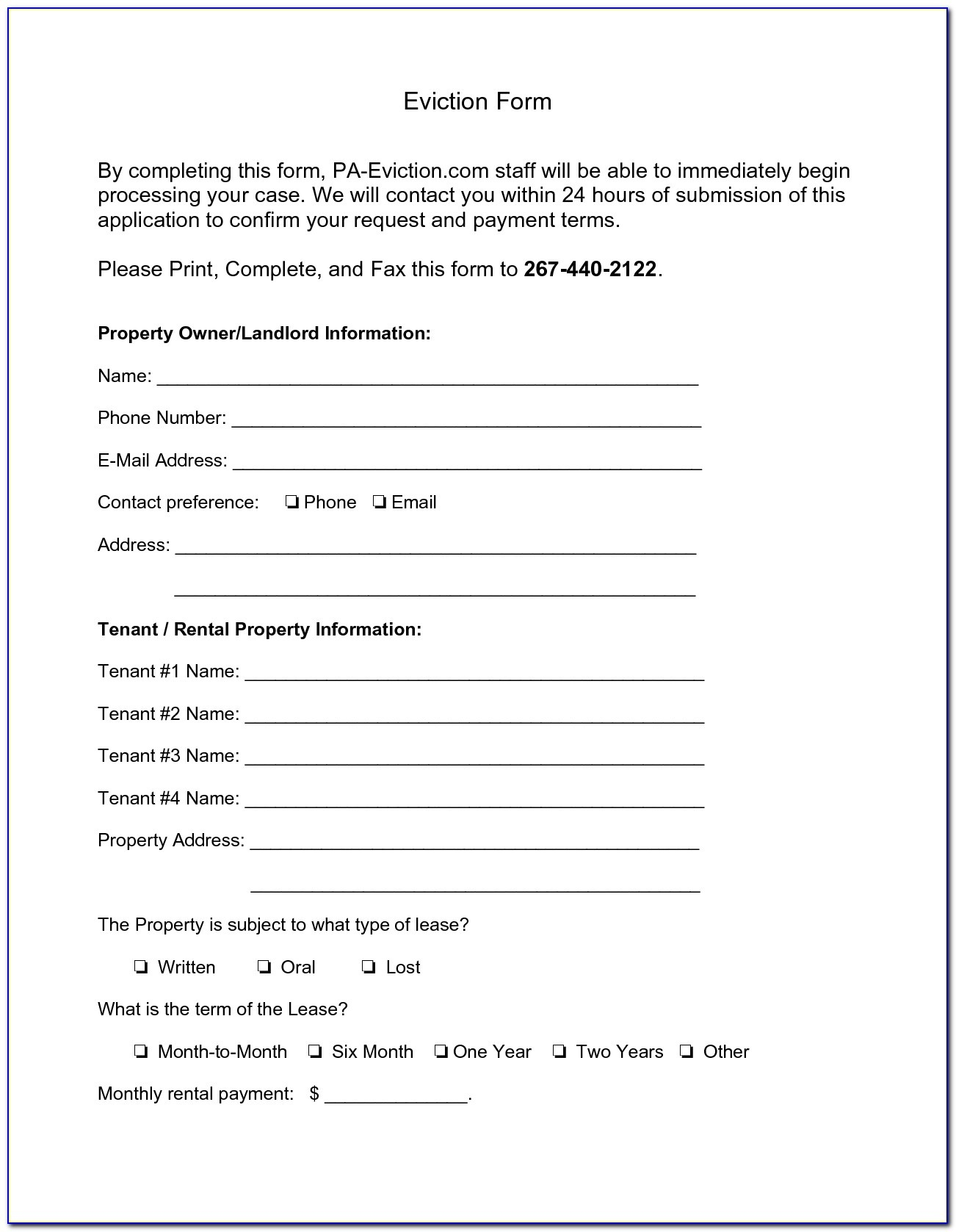Pennsylvania Eviction Notice Form Free - Form : Resume Examples - Free Printable Eviction Notice Pa