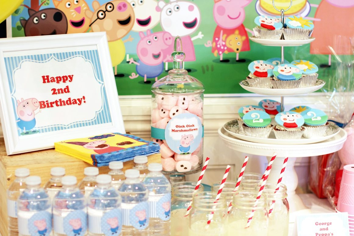 Peppa And George Pig Birthday Party – Part 1 / - Peppa Pig Birthday Banner Printable Free