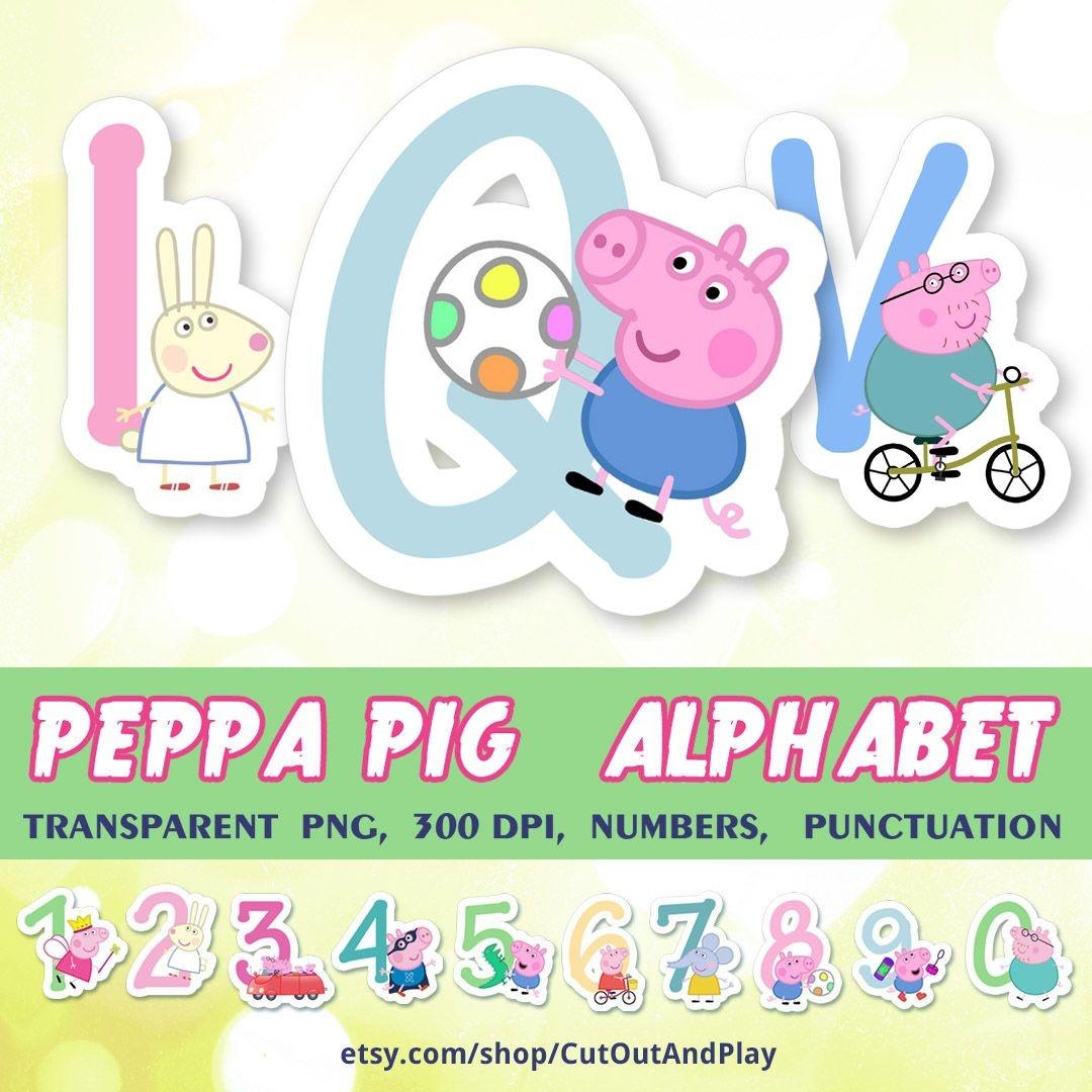Peppa Pig Alphabet, Clipart, Peppa Pig Birthday Banner, Birthday - Peppa Pig Birthday Banner Printable Free