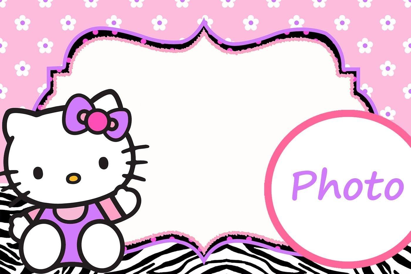 Personalized Hello Kitty Invitation Template | Hello Kitty | Hello - Hello Kitty Name Tags Printable Free