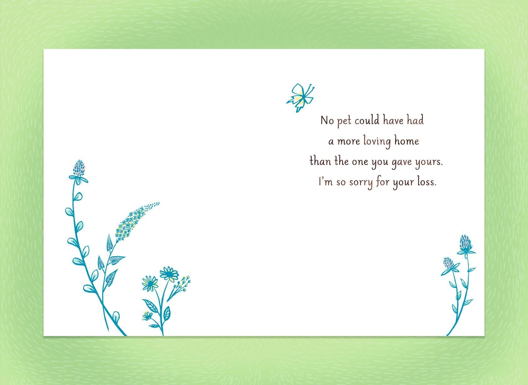 Pet Loss Sympathy Card - Kaza.psstech.co - Free Printable Sympathy Cards For Loss Of Dog