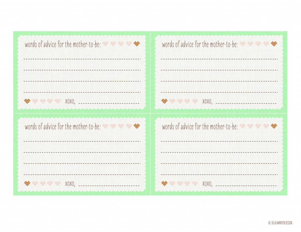 Photo : Baby Shower Advice Cards Printable Image - Free Mommy Advice Cards Printable