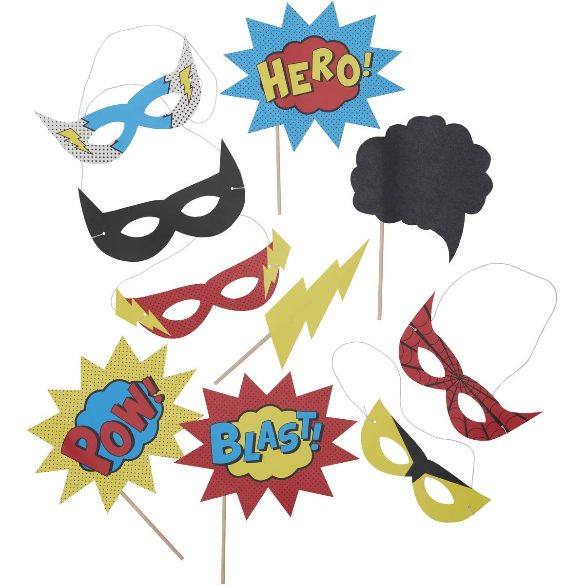 Photo Booth Props | Wedding And Party | Hobbycraft - Free Printable Superhero Photo Booth Props