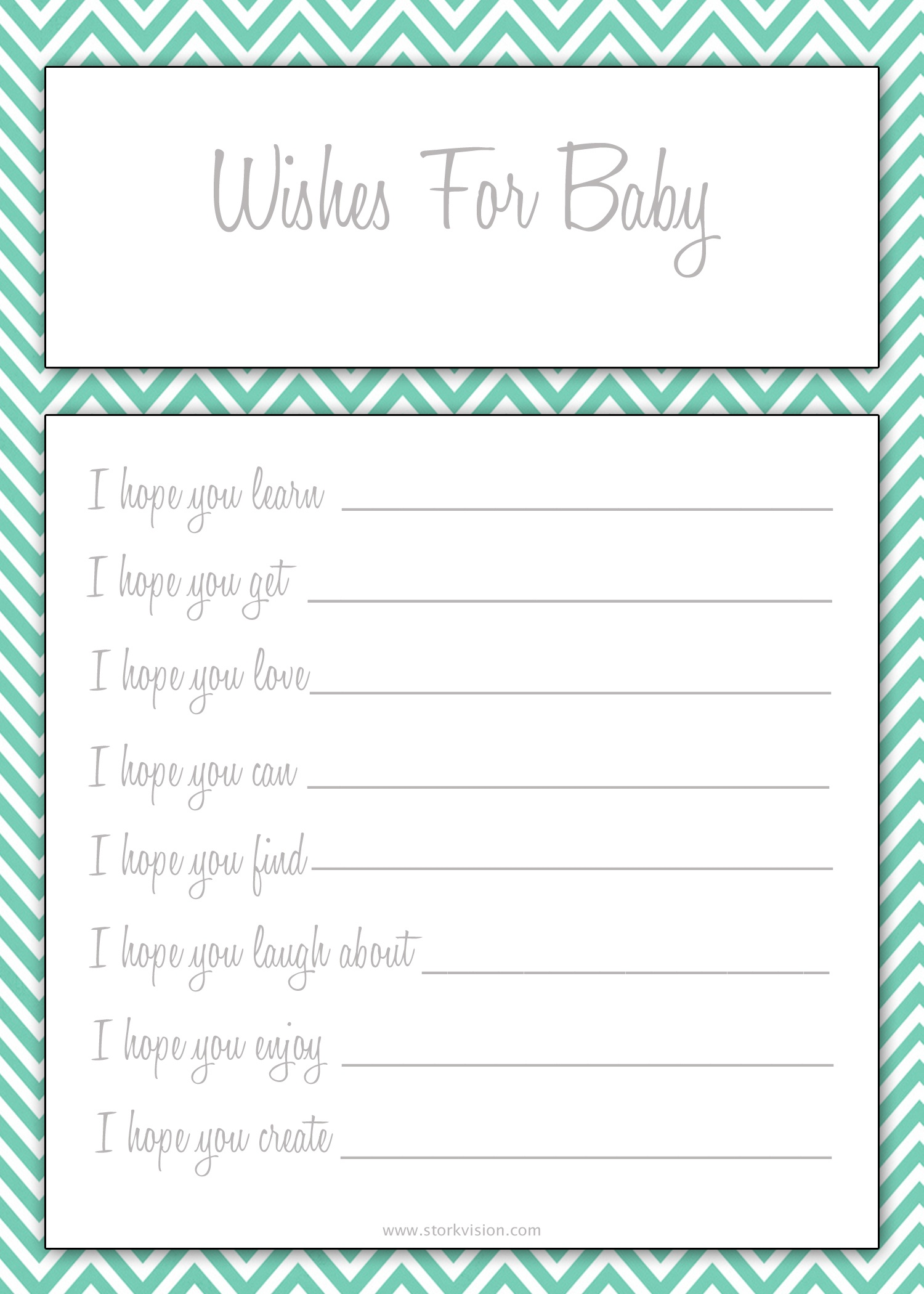 Photo : Free Baby Shower Printable Image - Free Printable Baby Shower Games For Twins