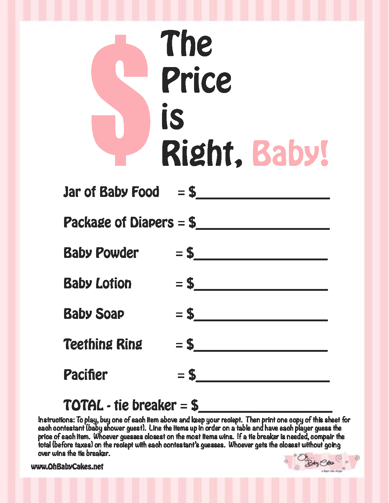 Photo : Free Printable Coed Baby Image - Free Printable Group Games