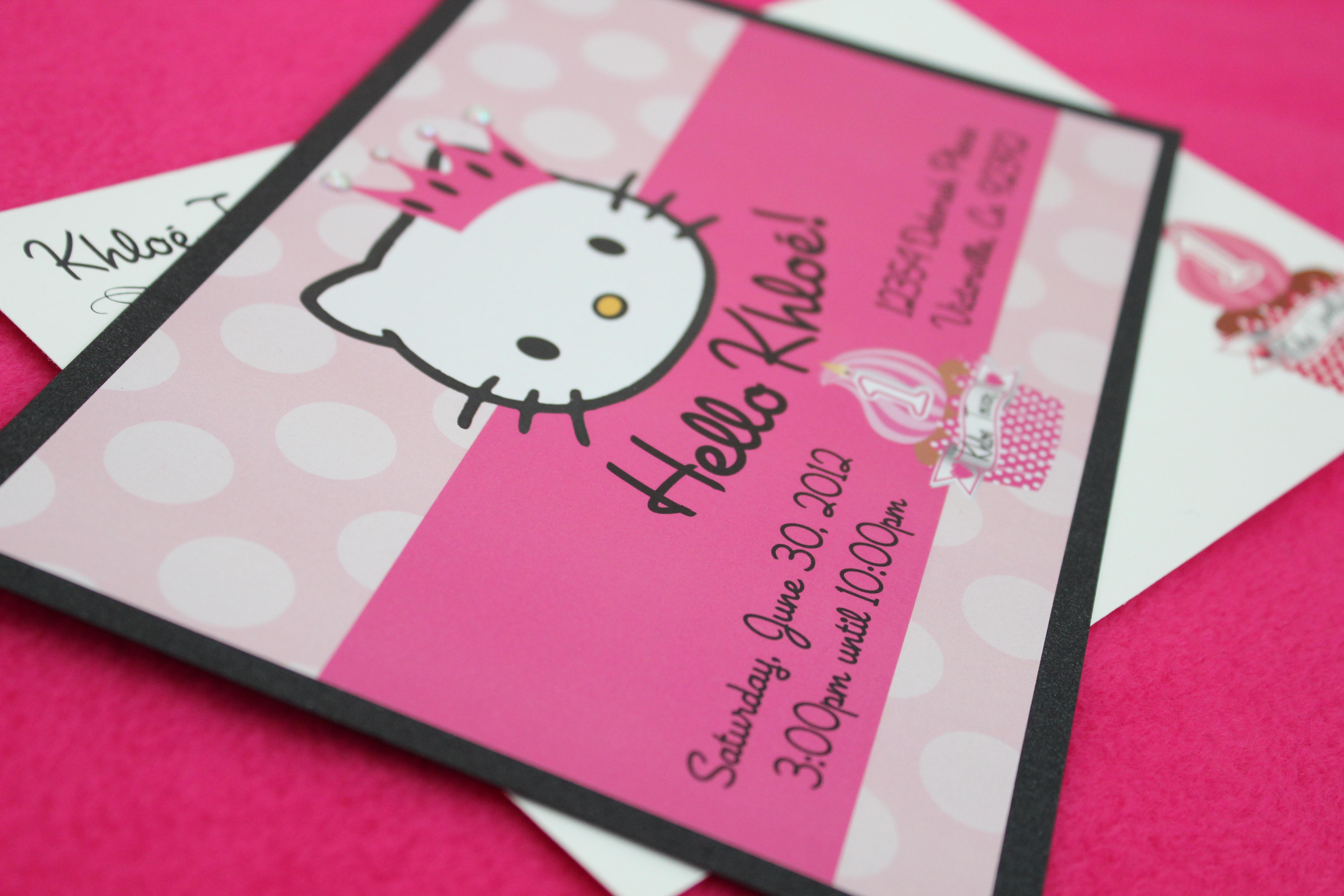 Photo : Leopard Hello Kitty Baby Image - Free Printable Hello Kitty Baby Shower Invitations