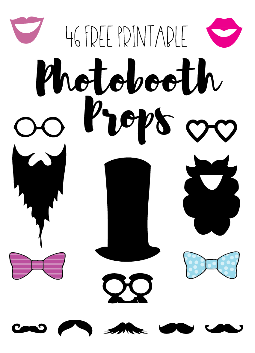 Photobooth Props // Free Download And Tutorial | Silhouette - Free Printable Photo Booth Props
