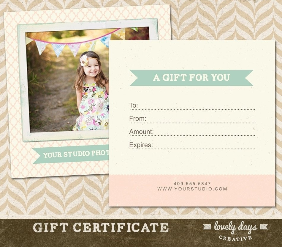 Photography Gift Certificate Ideas | Lazine - Free Printable Photography Gift Certificate Template