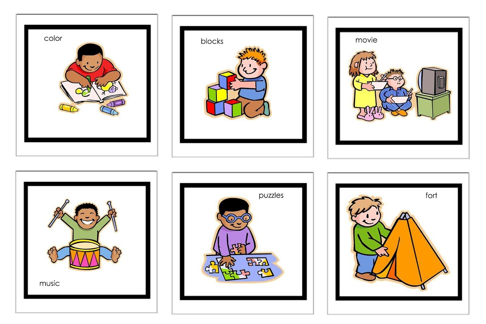 Picture Cards For Nonverbal Children   Free Printable Visual - Free Printable Visual Schedule For Preschool