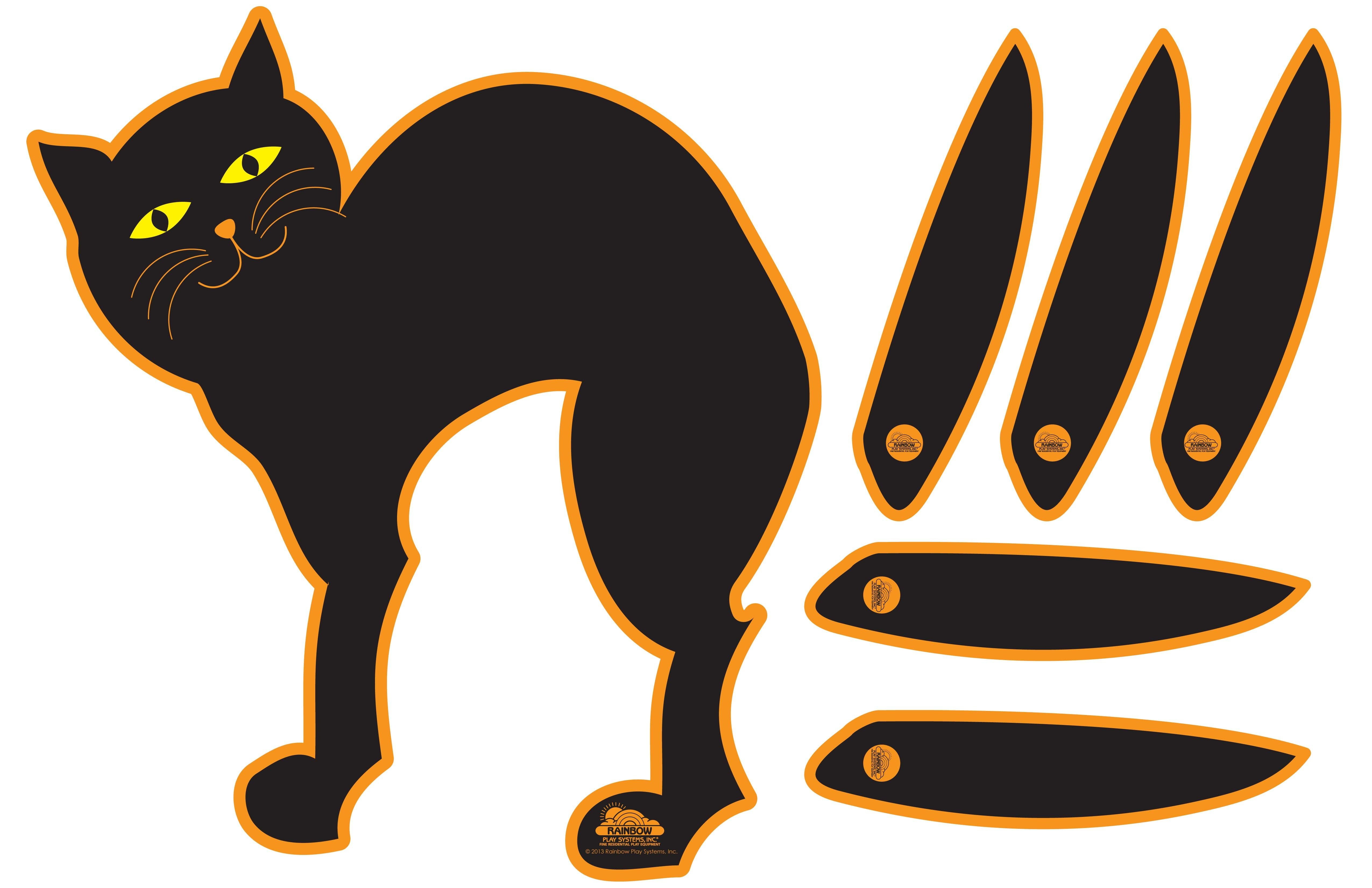 Pin The Tail On The Cat | Kids Holiday - Halloween Activities - Free Printable Pin The Tail On The Cat