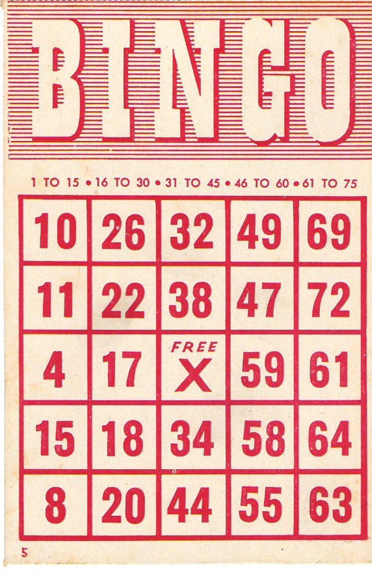Free Printable Bingo Cards 1 75
