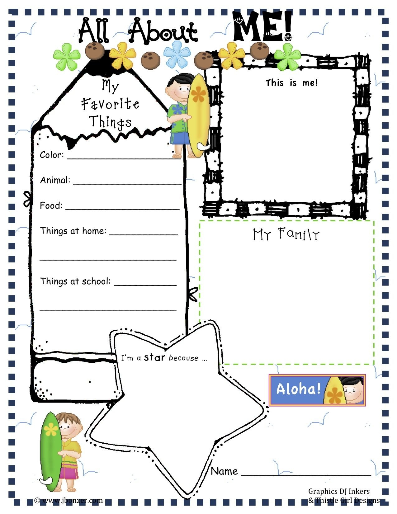 Pinangela Sanguino On Education | All About Me Worksheet, All - Free Printable All About Me Poster
